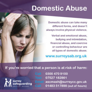 Surrey Safeguarding Adults Board - Domestic Abuse information guide