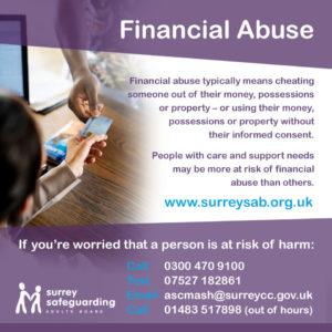 Surrey Safeguarding Adults Board - Financial Abuse Information guide