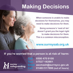 Surrey Safeguarding Adults Board - Making Decisions information guide