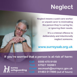 Surrey Safeguarding Adults Board - Neglect Information guide