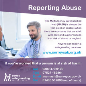 Surrey Safeguarding Adults Board - Reporting Abuse information guide