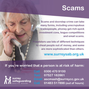 Surrey Safeguarding Adults Board - Scams Information guide